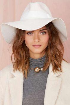 Jasmine Wool Hat - White