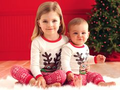 Does your family dress up in holiday jammies? This sweet set from Tiny Tillia is a great option.