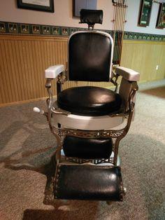 1910 Koken Barber Chair & Vintage barber chair | Barbershop/Salon Concept Design | Pinterest ...