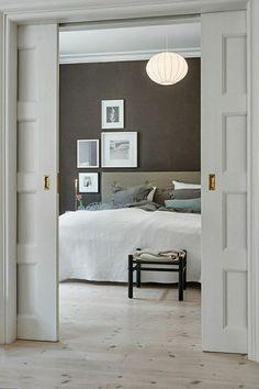 Home Decor Accessories .Home Decor Accessories Sliding Pocket Doors, Sliding Door Design, Double Pocket Door, Bedroom Doors, Home Bedroom, Master Bedroom, Bedroom Wall, Gray Bedroom, Bedroom Wardrobe