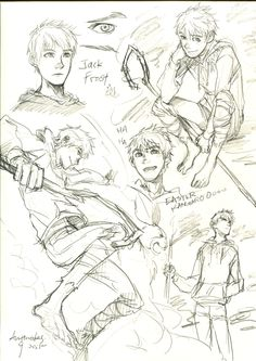 Jack Frost by Anthrakas.deviantart.com see i'm really good at drawing girls, I can get really detailed with their hair and eyes, but not for dudes I need to draw better guys, like this.