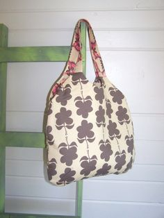 New Style  the Alice Bag in Flower Power in Tan by thejoyschoppe, $36.00