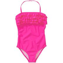 Op Girls' 1 Piece Ruffle Swimsuit