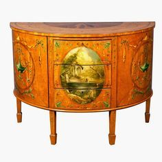 Decorating With Antique Painted Satinwood Furniture