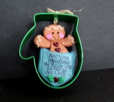 Gingerbread Christmas Ornament Mitten Metal Cookie Cutter Polymer Clay Milestone Cake Top Pocket Laughter Love 1st Snowflake Ginger Cookie by alongcameaspider1 on Etsy