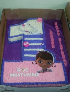Doc McStuffins Themed Shaped 1 Birthday Cake Its A Full Sheet Yellow With
