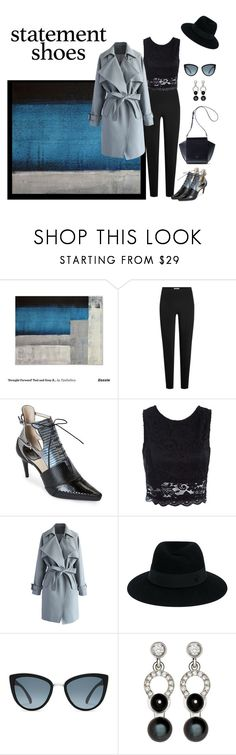 """""""Just Starting Out"""" by jjsunnygirl ❤ liked on Polyvore featuring T By Alexander Wang, Christian Dior, Sans Souci, Chicwish, Maison Michel and Nathalie Jean"""
