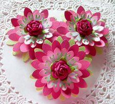 Paper Flowers-Pink Daisy Rose