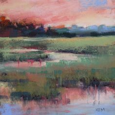 Lowcountry Sunset 6x6 landscape -- Karen Margulis
