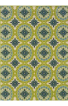Oriental Weavers Sphinx Caspian Outdoor 8328 Green Rug at Rugs USA Motifs Textiles, Textile Patterns, Textile Design, Geometric Patterns, Floral Design, Et Wallpaper, Pattern Wallpaper, Indoor Outdoor Rugs, Outdoor Area Rugs