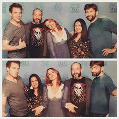 David, Billie and John Barrowman at the Comic Con San Antonio