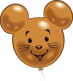 Figuren ballonnen muis  Muizen figuur ballonnen. 2 ballonnen in de vorm van muizen. Omtrek ongeveer 56 cm groot.  EUR 3.99  Meer informatie