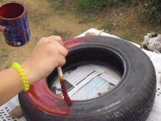 Lefestett egy régi gumiabroncsot, majd néhány perccel később meseszép dolgot csinált belőle! Garden Hose, Outdoor Decor