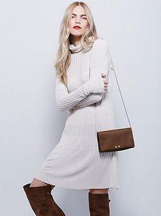 Free People Mod Turtleneck Dress #freepeople #long #longdress #white #sweater #fall #winter #autumn #dress #women #covetme