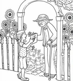 Kindness Coloring Page Fruits