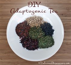 DIY Adaptogenic Herbal Tea Blends--since I found out I have adrenal fatigue these adaptogenic teas will help