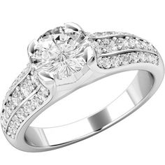 A glamorous Round Brilliant Cut diamond ring with by TheGemDiva
