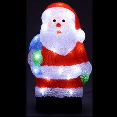 Père noel lumineux pas cher acrylique 40 LED, Decoration Noel Exterieur Noël  Pas Cher,. badaboum.fr e75843599a75