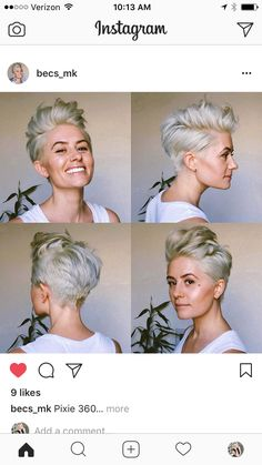 Pixie Back, Short Hair Cuts, Short Hair Styles, Hair Inspo, Hair Inspiration, Short Blonde, Blonde Hair, Top Hairstyles, Haircuts