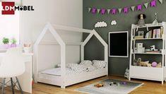 Details Zu Bett Für Kinder Kinderbett Holzbett Kinderhaus Matratze Haus  80x160 Cm Weiß