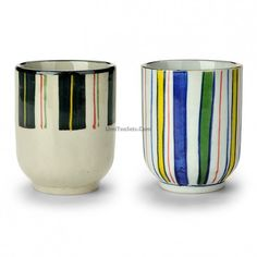 Good teas can refresh your body, Colorful Stripes Japanese Tea Cup can color your life, come here to let your body refresh and life become colorful! Japanese Tea Cups, Tea Cup Set, Best Tea, Cupping Set, Stripes, Colorful, Canning, Antiques, Tableware