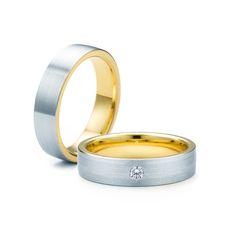 SAVICKI - Obrączki ślubne: Obrączki z dwukolorowego złota (Nr 249) - Biżuteria od 1976 r. Wedding Rings, Engagement Rings, Jewelry, Enagement Rings, Jewlery, Jewerly, Schmuck, Jewels, Jewelery