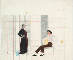 loverofbeauty:  David Hockney, Study for 'Mr and Mrs Clark and Percy (1970)