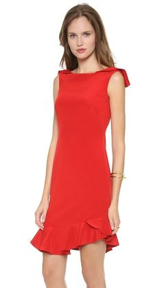 Notte by Marchesa Silk Crepe Cocktail Dress