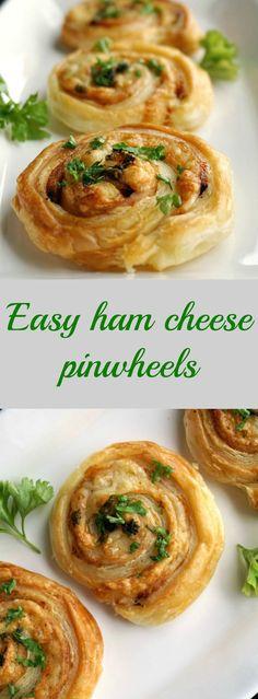 Easy ham cheese pinwheels