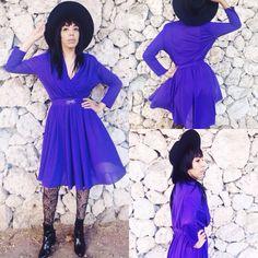 Vintage 70s 80s Purple Cocktail Crepe Dress M $47.00 https://www.etsy.com/listing/197603992/vintage-70s-80s-purple-cocktail-crepe?