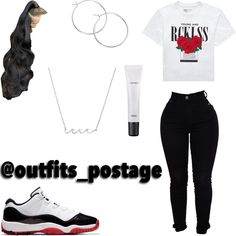 Baddie Outfits Casual, Cute Swag Outfits, Dope Outfits, Outfits For Teens, Pretty Outfits, Fashion Outfits, Fashion Ideas, Girl Fashion, Freshman Outfits