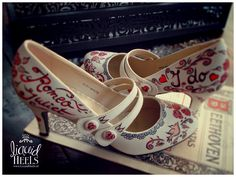 Handpainted shoes we did for a wedding