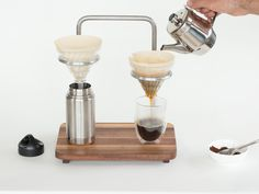 Jacob Ruch is raising funds for Pour Lab -- Dual Pour Over Coffee Set on Kickstarter! Make Better Coffee more Beautifully! Bunn Coffee, Coffee Lab, Drip Coffee, Electric Coffee Maker, Pour Over Coffee Maker, Opening A Coffee Shop, Coffee Holder, Coffee Dripper, Coffee Stands
