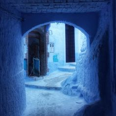 Chefchaouen, Morocco #Africa #blue #city #architecture #travel Photo by Mike Sowden
