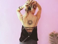 Sun Tattoo On Back <3