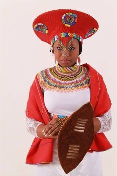 Zulu Traditional Wedding Dresses, Zulu Traditional Attire, African Traditional Dresses, African Print Dresses, African Print Fashion, African Fashion Dresses, African Outfits, African Makeup, African Beauty