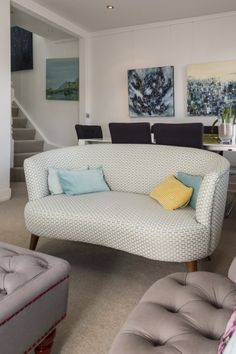 Lulu 2 Seater Sofa in honeycomb weave makes a comfortable and striking addition to your living room.