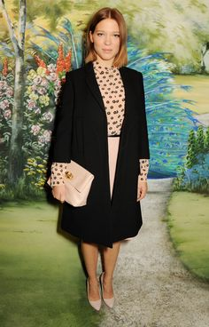 Lea Seydoux at the Mulberry SS14 show. SS14 Show Guests - Journal   Mulberry