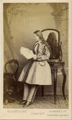 Dr. Mary Walker, a physician in the 1800's that upset people by frequently wearing pants.