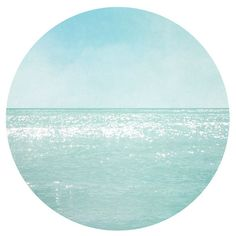 Circular Beach Photography, Aqua blue teal Print, Modern Circle Ocean... ($31) ❤ liked on Polyvore featuring home, home decor, wall art, circle, circular, round, beach scene wall art, photographic wall art, blue green wall art and sea wall art