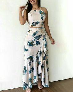 Chic Me: Women's Fashion Online Shopping Trend Fashion, Womens Fashion, Fashion Top, Style Fashion, Casual Dresses, Fashion Dresses, Floral Dresses, Two Piece Dress, Ruffle Skirt