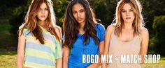 Get your summer look at AE.  BOGO 50% Ts, Tanks, and Flops!