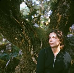 Nancy Holt in Wistman's Wood, Dartmoor, photographed by Robert Smithson 1969 Courtesy Nancy Holt / from Tate Etc. article, 2012