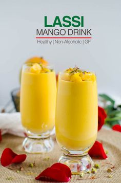 This lightened recipe for mango lassi is so easy to prepare & perfect to enjoy seasonal fresh mangoes. You will love this healthy mango drink Healthy Smoothies, Healthy Drinks, Smoothie Recipes, Healthy Snacks, Drink Recipes, Juice Smoothie, Tea Recipes, Fruit Recipes, Shrimp Recipes