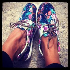 Floral Sperrys