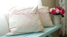 Create A Custom Pillow With Paint- A- Pillow - White Lace Cottage