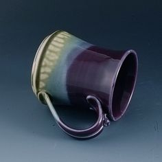 Hey, I found this really awesome Etsy listing at https://www.etsy.com/listing/222591709/purple-pottery-handmade-hourglass-shaped