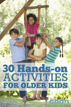Are you looking for hands-on activities perfect for older kids that will encourage independent learning while teaching them fun hobbies that can grow with them? You will LOVE these 30 hands-on activities for older kids! | www.teachersofgoodthings.com