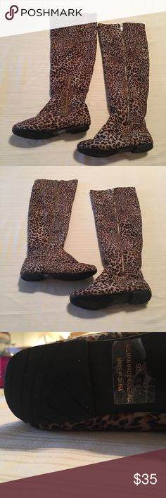 Cheetah print boots Knee high cheetah print boots only worn once Shoes Over the Knee Boots