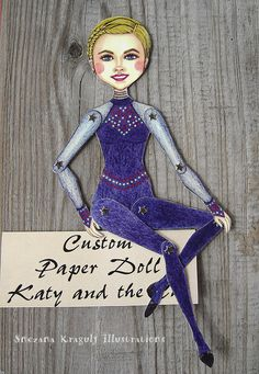 Custom Articulated Paper Doll,Personalized,Made to Order,Handmade,One of a kind